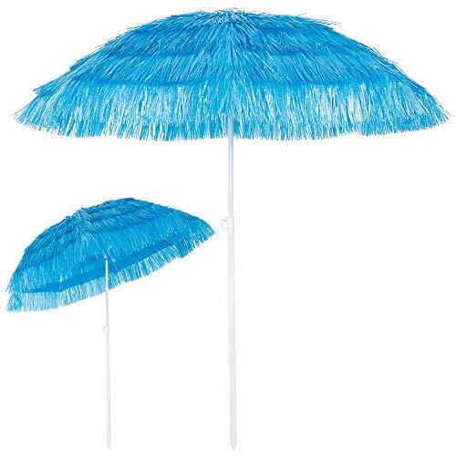 Kingsleeve Sonnenschirm Hawaii Ø 160 cm Neigefunktion höhenverstellbar blau Terrassenschirm Balkonschirm Strandschirm