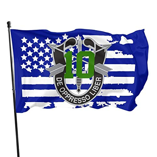 AOOEDM 10th Special Forces Group SPG Flag 3x5 Foot Polyester Fly Bleeze 3'x5' Flag