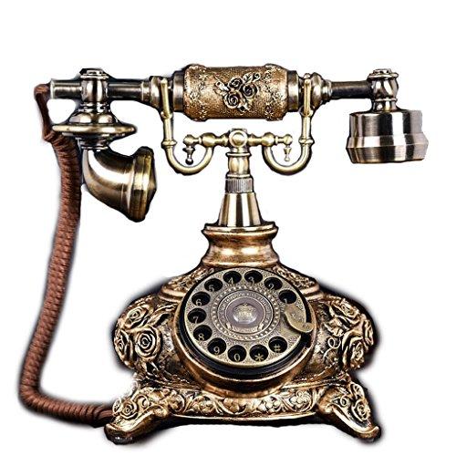 NYDZDM Teléfono Europeo Rotary Classical Garden Retro Hogar Creativo Oficina Fija Teléfono Fijo (Color : B)