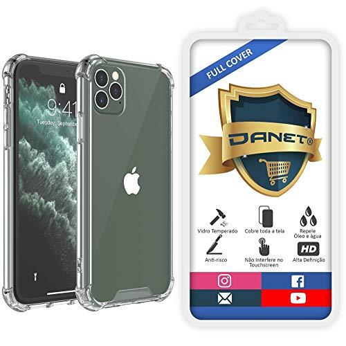Kit Capa E Película Para iPhone 11 Pro Tela De 5.8Polegadas Capinha Case Transparente Air Anti Impacto e Película De Vidro Temperado 3d - Danet