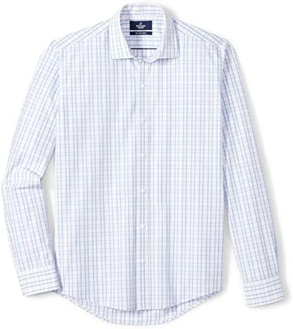 Amazon Brand Buttoned Down Men s Slim Fit Supima Cotton Spread Collar Pattern Dress Casual Shirt product image