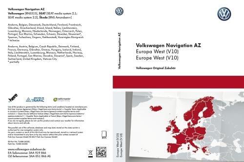 VW SD-Karte für RNS 315, Westeuropa (V10) - 3AA051866AS