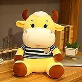 XIAN Llamamiento Hot Huggable Kawaii Vaca Muñeca Mascota rellena Encantadora Ganado Juguetes para niños Muchachas Amante cumpleaños Regalo Almohada 22 cm b hailing (Color : B, Size : 22cm)