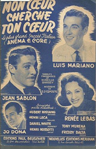 Mon coeur cherche ton coeur (Anema e core) - Lui Mariano, Jean Sablon, Renée Lebas, Jo Dona