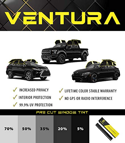 RPFILMS Full Car Pre Cut Test Window Tint DIY Kit - Ventura Films Car Auto Commercial Self Adhesive and Heat Resistant Customizable