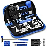 ONEBOM Watch Repair Tool Kit,Professional Watch Band Opener Link,Watch Back Case Remover with Carrying Case