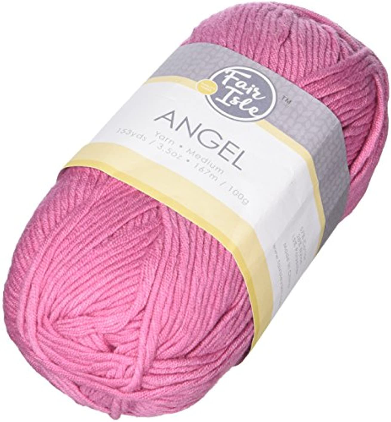 Fair Isle Yarn 1019107102 Angel Yarn, Rose