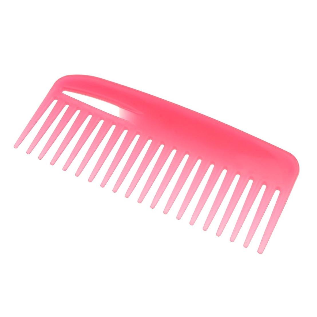 第二売り手雑種ヘアケア ブラシ ワイド歯 櫛 プロ ヘアブラシ ヘアサロン 便利 全3色 - ピンク