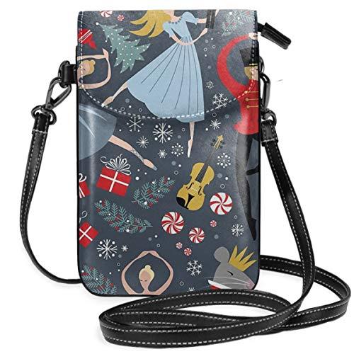 Clara's Nussknacker-Balletttasche, leicht, kleine Umhängetasche, Handtasche, Geldbörse für Frauen und Mädchen mit praktischem Tragen.