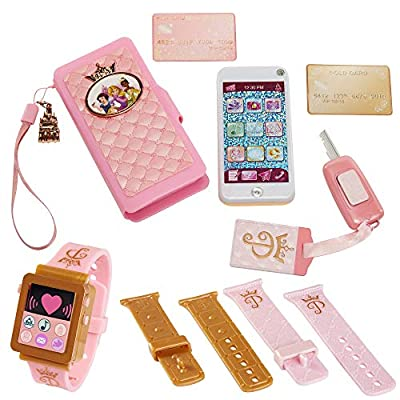Disney Princess Style Collection Role Play Set with Toy Smartphone and Watch for Girls [Amazon Exclusive] from Jakks