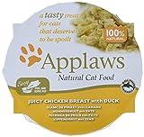 Applaws Pechuga de Pollo jugosa con macetas de Pato, 10 x 60 g