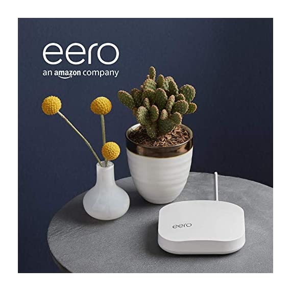 Amazon eero Pro mesh WiFi router 6 eero Pro router/extender - The Amazon eero Pro mesh router replaces your traditional WiFi router. A single eero Pro is a perfect start for any home and can be paired with another eero Pro or eero Beacon to quickly add coverage as needed. eero Pro is backwards compatible with 1st generation eero routers. Pro-grade WiFi - With the most intelligent mesh WiFi technology and powerful hardware, the eero Pro features tri-band technology making it 2x as fast as the original eero router. With two gigabit Ethernet ports, easily connect your eero Pro to your favorite devices or additional eero Pro's for the fastest in-home speeds. Cutting-edge WiFi - Unlike common wireless routers and access points, eero Pro automatically updates overnight so you always have the latest security and features.