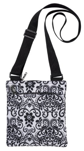 Read About Three Cheers for Girls 48902 Bliss Black/White Scroll Crossbody Bag