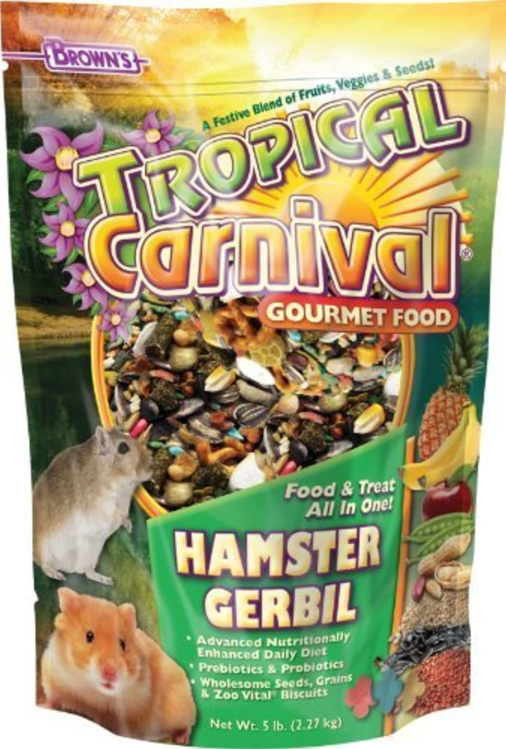 F.M. Brown's Tropical Carnival Hamster Gerbil, 5Pound by Fm Browns