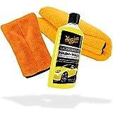 detailmate Auto Wasch- und Trockenset: Meguiars Wash & Wax Shampoo - Autoshampoo 473ml + Mikrofaser...
