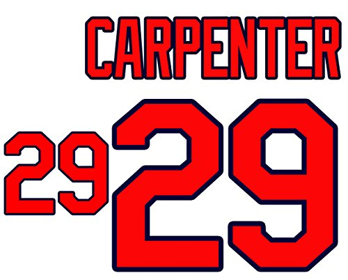 Chris Carpenter St. Louis Cardinals Jersey Number Kit, Authentic Home Jersey Any Name or Number Available