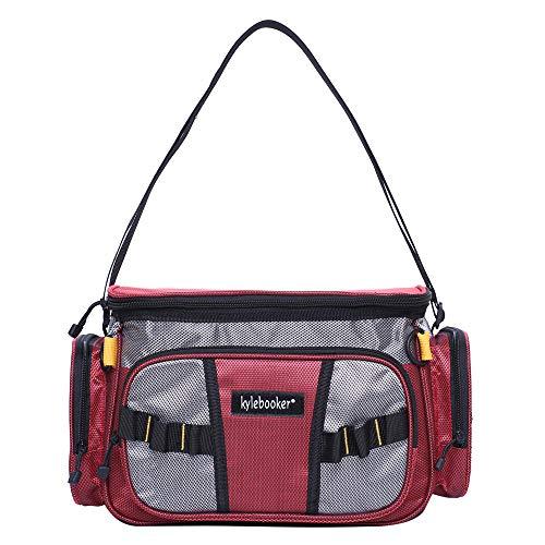 Kylebooker Small Fishing Tackle Storage Bag (Red)