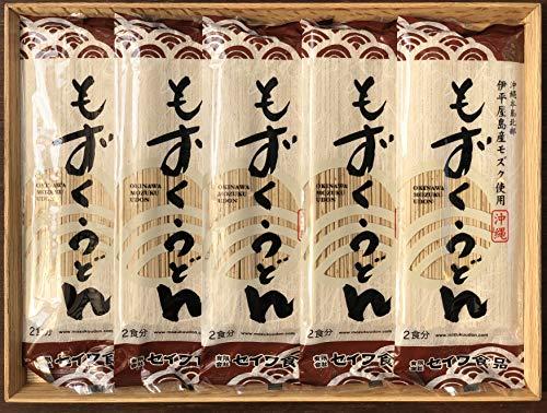 沖縄磯割り もずくうどん160g(2食分/つゆ無し)5束