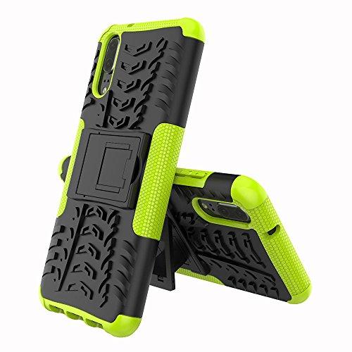 XINYUNEW Funda Huawei P20 Pro, 360 Grados Protective+Pantalla de Vidrio Templado Caso Carcasa Case Cover Skin móviles telefonía Carcasas Fundas para Huawei P20 Pro-Verde