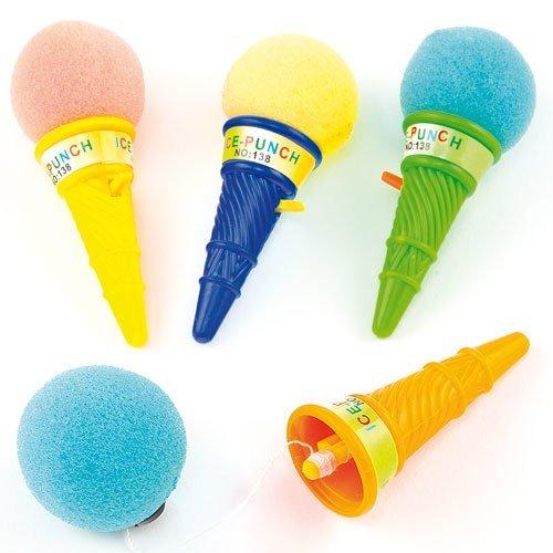 """Springballspiel """"Eistüte"""" mit Ball Abschuss - Fangbecher - Mitgebsel und Preis für Kinder beim Kindergeburtstag - 6 Stück"""