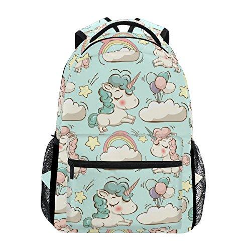 Mochila Tizorax con diseño de unicornio, para la escuela, senderismo, viajes, mujeres y...