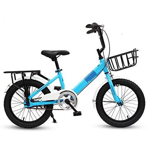YumEIGE kinderfiets kinderfiets, kinderfiets 16/18/20 inch jongens en meisjes fietsen geschikt voor kinderen van 6-16 jaar blauw, groen, roze beschikbaar