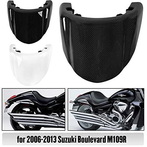 Motorcycle Rear Pillion Passenger Hard Solo Seat Cover Cowl for Suzuki Boulevard M109R 2006 2007 2008 2009 2010 2011 2012 2013(White)