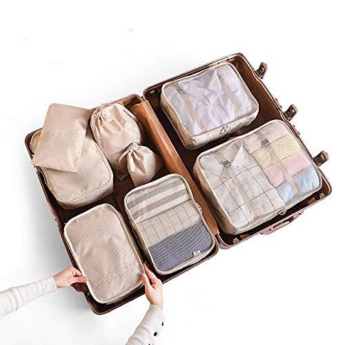 Anyiruo 6/8 bolsas de viaje impermeables para ropa, organizador de equipaje, manta para colcha, bolsa de almacenamiento para maleta, bolsa de embalaje, cubo