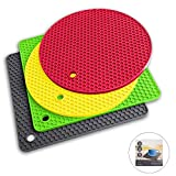Pot Holders and Silicone Trivet Mats. Our 7 in 1 Multi-Purpose Kitchen Tool is Heat Resistant to 440°F, Non-slip,durable, flexible easy to wash and dry. 4 Potholders By Q's INN.