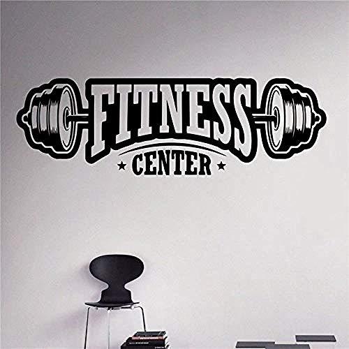 Adesivi murali palestra palestra fitness esercizio bilanciere manubri adesivi murali casa interni arte murale adesivo in vinile DTY 30 * 95cm