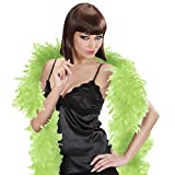 Feather Boa Small 180cm Lime Green Accessory for 20s 30s Dancing Flapper Moll Fancy Dress