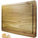 Planche à découper Chef Remi – Remplacement garanti à vie – Meilleur bloc à découper – Grand ustensile de cuisine 41x25 cm – Plus solide que le plastique ou le bambou – Approuvé par les bouchers