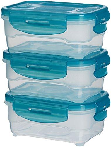Amazon Basics: Juego de almacenamiento de comida de 3 unidades, 3 x 0,6 L