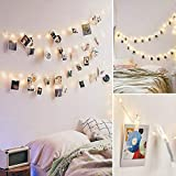 50LED 20 Photo Clips String Fairy Lights Battery Powered Decoration for Living...