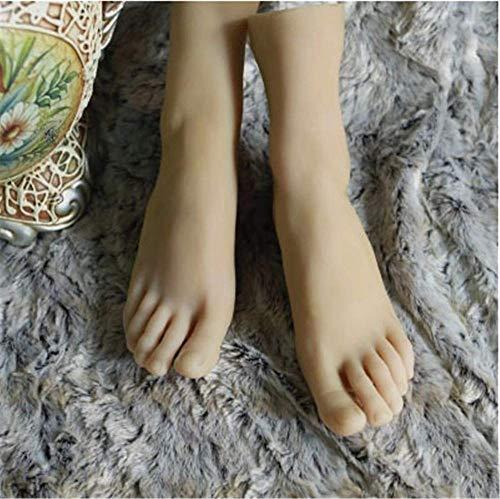 yunyu Schaufensterpuppenfuß, Kieselgelfuß Puppen Weiblicher Fuß Schaufensterpuppe Lebensechte Bogenstütze Silikon TRE Ständer Schmuck Sandale Socken Display Modell, EIN Paar 36 Größe
