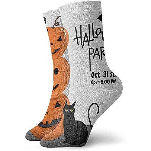 Be-ryl Calzini da Donna da Uomo Calzini Cuscino per Halloween Biglietto d'invito per Feste Calze da Trekking da Trekking per Atletica 30cm