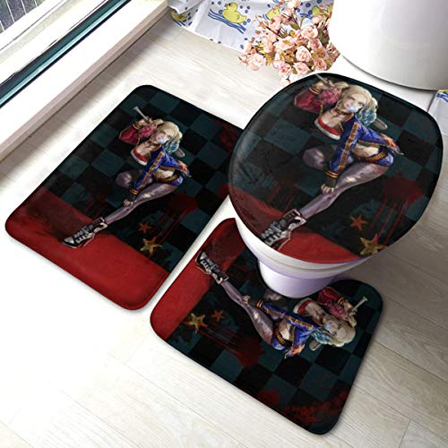 51HzRAKSO0L Harley Quinn Bath Mats