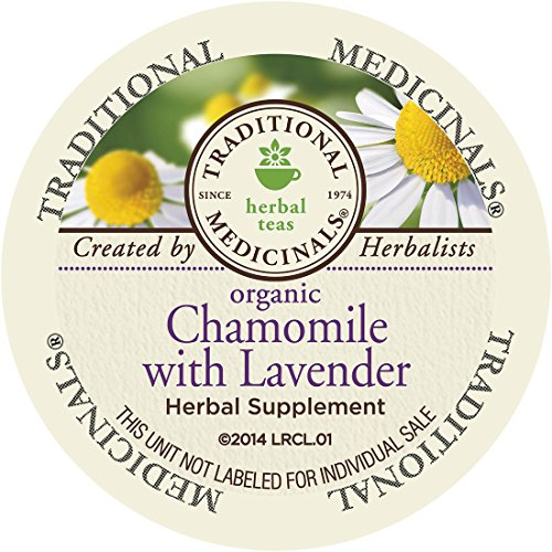 Traditional Medicinals Organic Chamomile with Lavender Tea, Single Serve Cups for Keurig K-Cup Brewers, 10 Count