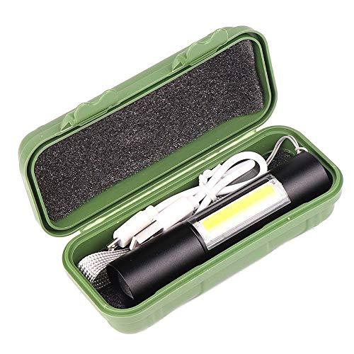 DKZK Lampe De Poche à LED, Lampe De Poche Portable à Zoom TéLescopique, Lampe De Poche Rechargeable USB, Lampe De Poche LatéRale, Lampe De Poche EDC pour Zoomer, Zoomable Et Zoomable