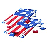 Franklin Sports Red, White and Blue PVC Cornhole Set — Includes 2 Targets and 8 Regulation Bean Bags — Great for Kids and Outdoor Family Fun