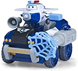 Super Wings Transfom a BOT Vehicle | Paul Police Rover | Vehículo y Figura de 5 cm