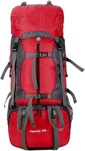 Sac d'alpinisme professionnel, sac à dos de randonnée de grande capacité ultra-léger de 60 litres pour voyage en plein air, housse de pluie, double imperméable, tissu doux, adapté aux sports de plein