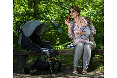 Kinderkraft Pilot light stroller, buggy stroller, child buggy, folding KinderKraft An innovative folding system, with a shoulder strap for easy transport The set contains: Modern barrier, shopping basket under the seat, foot protection, rain cover and cup holder. High quality stored, rubber wheels - all muffled. 5