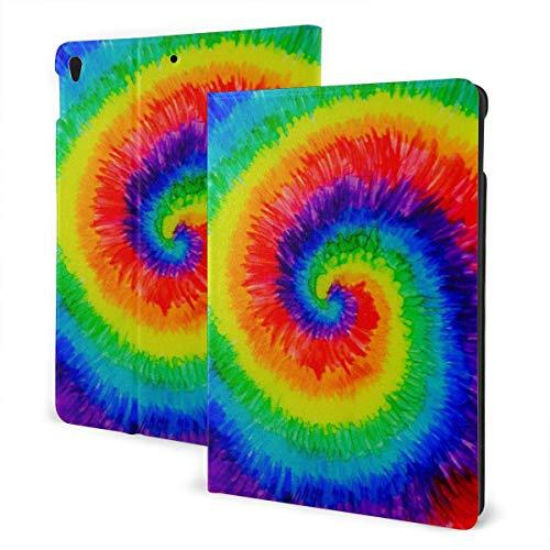 Funda para iPad Personalizada Tie Dye Pintado a Mano Soporte de múltiples ángulos Magnético Auto Sleep Wake up iPad Funda Protectora para iPad 7th 10.2 Inch