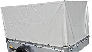 STEMA Z45076951 Anhänger Hochplane Plane grau 80 cm für Kasteninnenmaß 201 x 108