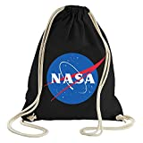 ShirtWorld - NASA Logo - Gym Bag Schwarz