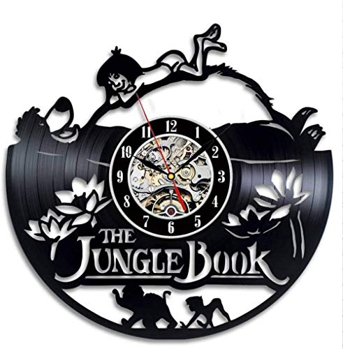 Kinder Wandklok The Jungle Book Thema Leuke Cartoon Hangende Vinyl Klokken Wandhorloges Woondecoratie Silent-A