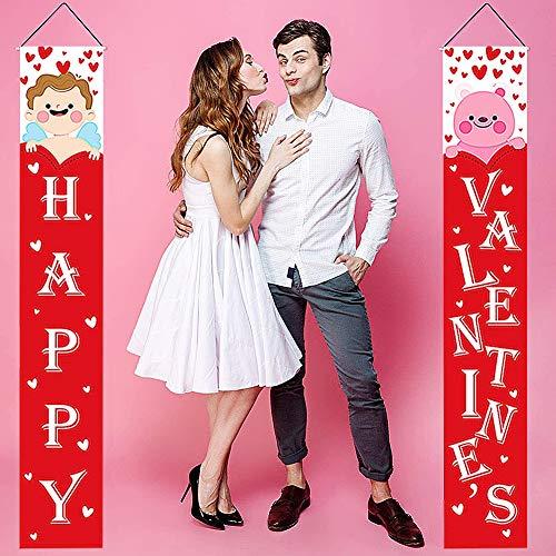 JPYZ Decorazioni Valentine's Day Banner di Valentine's Day,Bandiera di Be Mine Porch Segno per Fidanzamento, Matrimonio, Anniversario, Valentine's Day