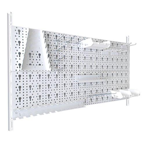 Werkzeugwand 23 teilig Lochwände 800x400 weiß mit Haken 11300-00011
