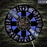 LittRur Transformación de 7 Colores Reloj de Pared con Registro de Vinilo LED Bar Interior Regalo de decoración de atmósfera de Pared, RHCP Red Hot Chili Peppers